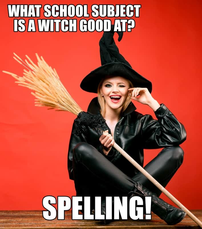 WHAT SCHOOL SUBJECT IS A WITCH GOOD AT SPELLING