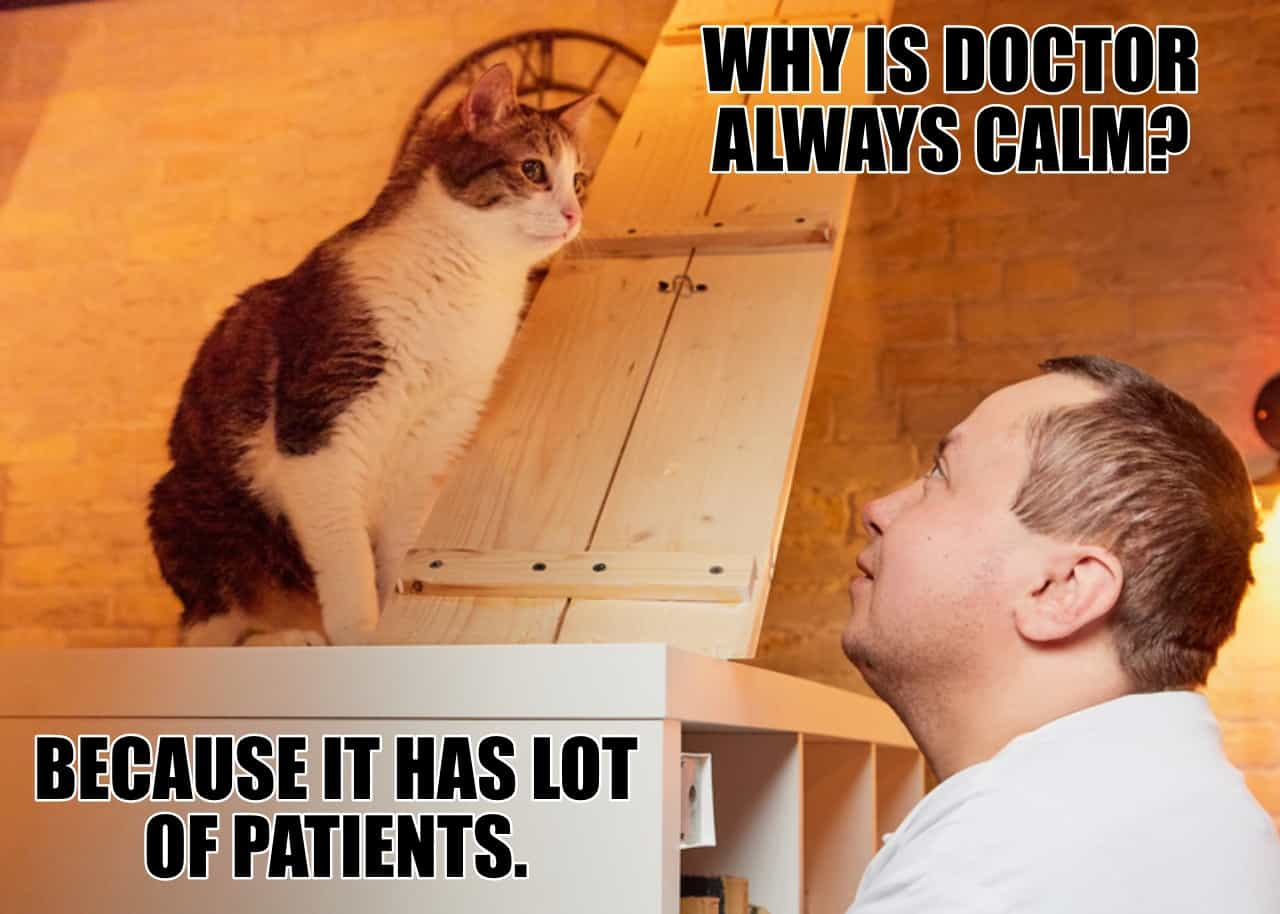 WHY IS DOCTOR ALWAYS CALM BECAUSE IT HAS LOT OF PATIENTS