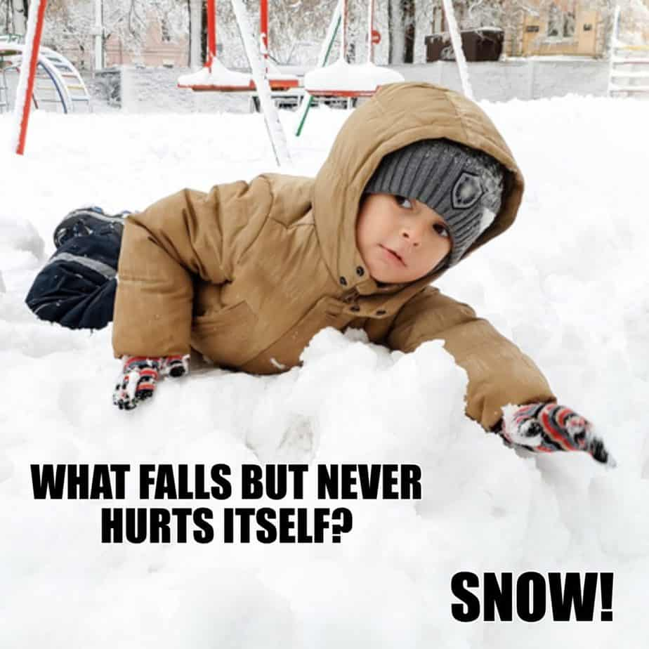 What falls but never hurts itself Snow