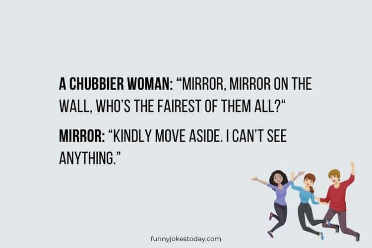 Jokes for Teens - Mirror, Mirror on the wall, who's the fairest of them all?
