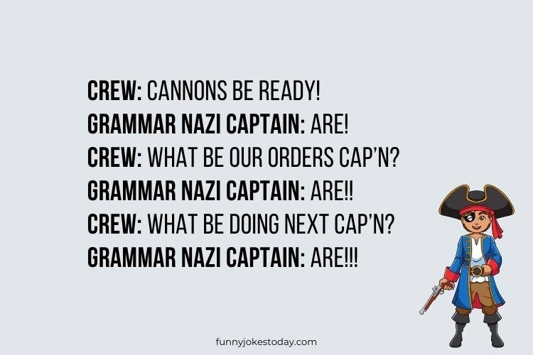 Pirate Jokes - Crew: Cannons be ready!