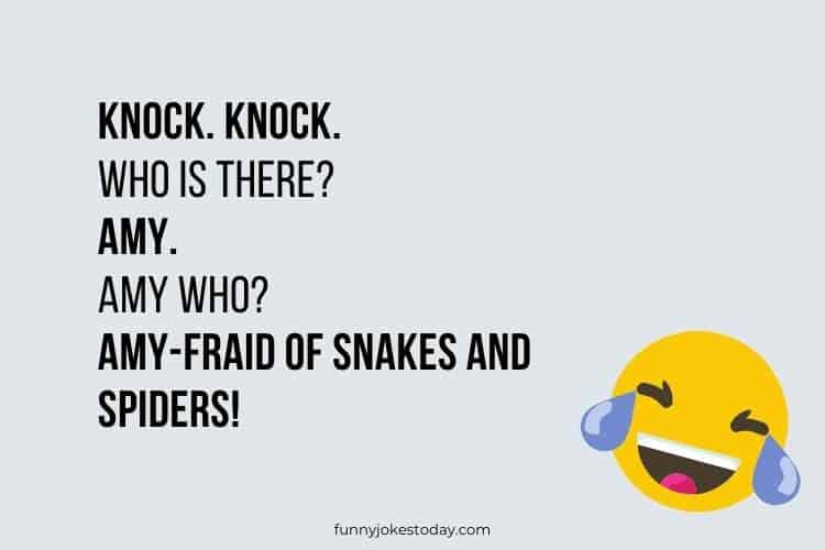 Knock Knock Jokes - Knock. Knock. Who is there? Amy.