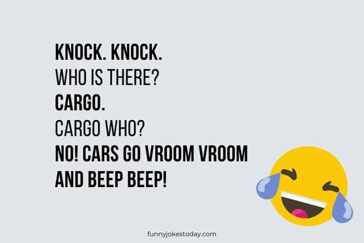Knock. Knock. Who is there Cargo.