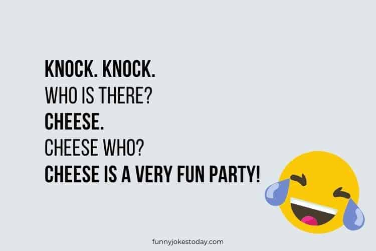 Knock Knock Jokes - Knock. Knock. Who is there? Cheese.