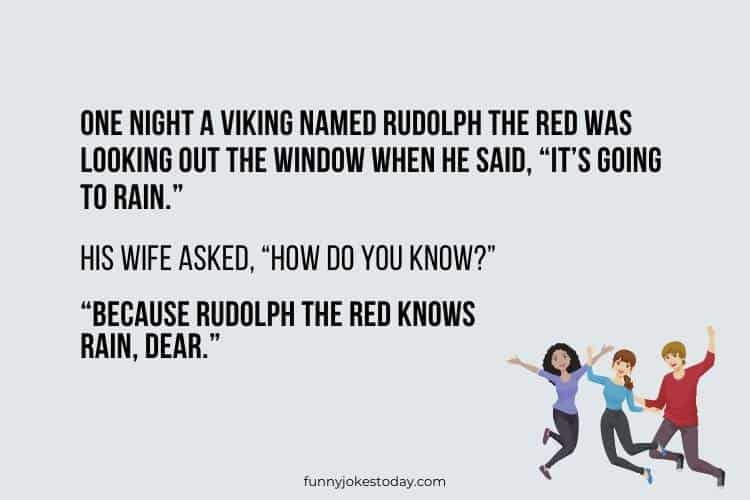 Jokes for Teens - One night a Viking named Rudolph the Red