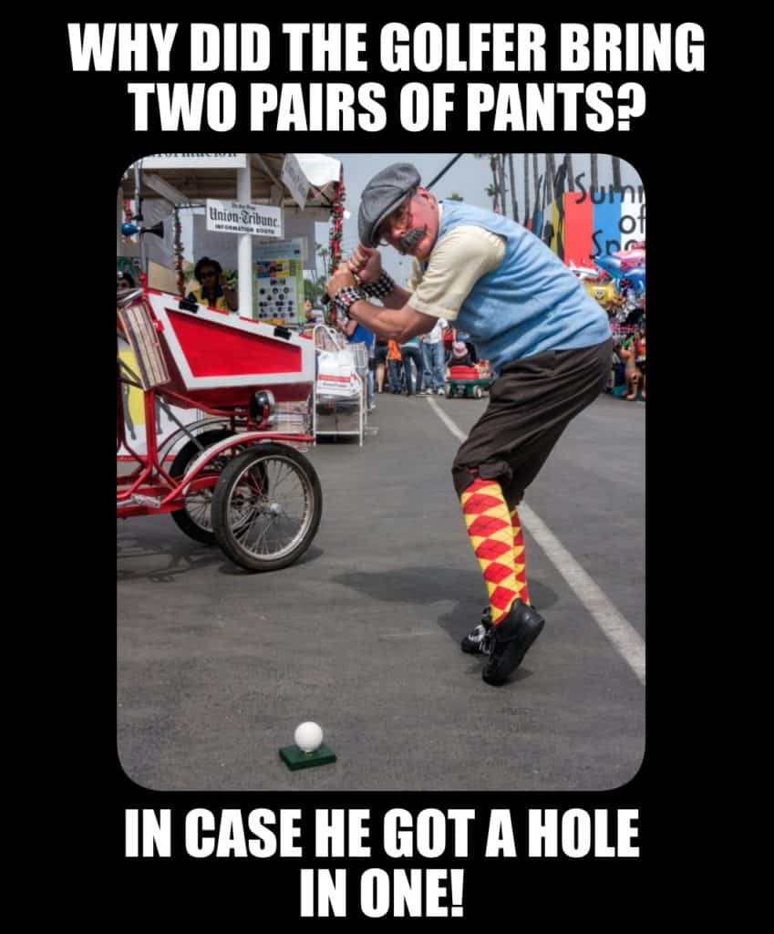 Corny and Cheesy Jokes - Why did the golfer bring two pairs of pants?