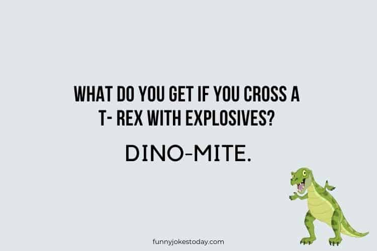 Dinosaur Jokes - What do you get if you cross a T- rex with explosives?