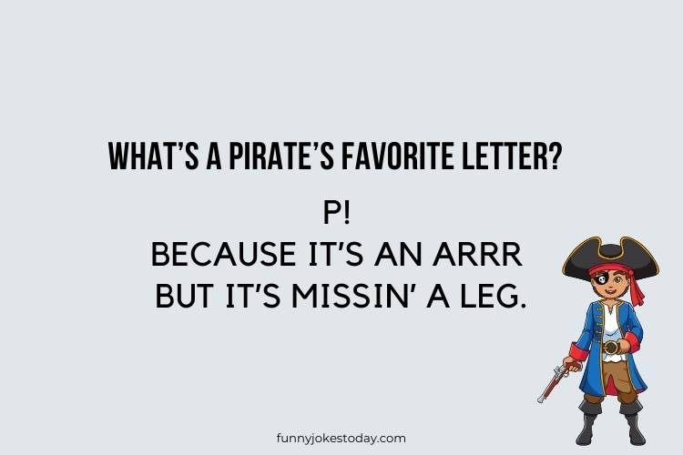 Pirate Jokes - What's a pirate's favorite letter?