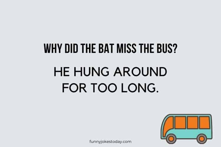 Bus Driver Jokes - Why did the bat miss the bus?